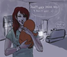dont cry dear baby by Everybery