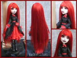 monster high custom repaint Nadine the vampire by Rach-Hells-Dollhaus