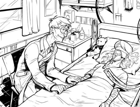 John and Mustang at the Hospital by Crispy-Gypsy