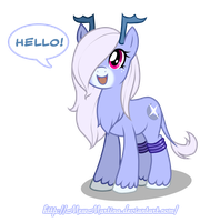 Moon sparkle says Hello by MewMartina