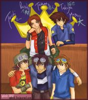 Digimon 10th Anniversary by splashgottaito