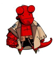 Hellboy Chibi by MelUran