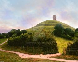 Sun over the Tor by Dravena
