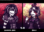 .: The Clown V.S The Doll :. by gingie-lily