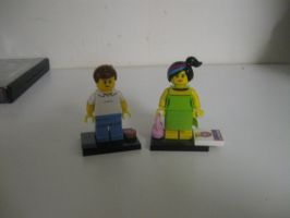 Emmett as Homer and Wyldstyle as Marge Simpson by darthraner83
