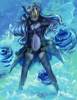 Atlantean Syndra fan art from League of Legends by Hamzilla15