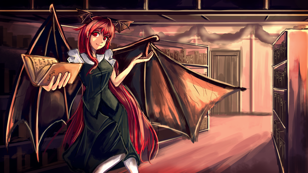 Koakuma, in the Voile Library. by Karias-K