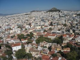 View over Athens by Kairu-Chan