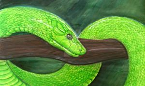Green Mamba by Primeval-Wings