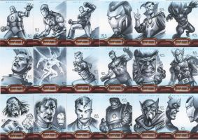 Iron Man 2 sketchcards Set 2 by ronsalas