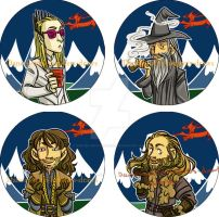 Hobbit Button set 2 by dances-with-hipsters