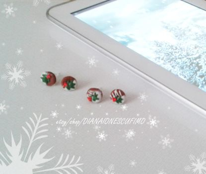 Christmas earrings cookies by ionescudiana