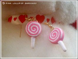 Diy Pink Lollipop Earrings by numb-existence