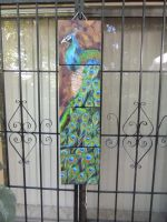 Quadriptych peacock painting by songbirdholly