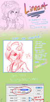 Lineart Tutorial - Photoshop by Doveyyyy