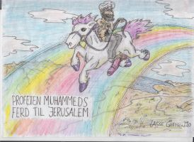 Muhammads Jerusalem journey by Tryggi