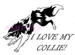 I Love My Collie Tribal by Ashenee