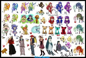 GIANT ADOPTABLE SALE by AeternaAdoptables