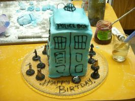 Tardis Cake by xxX-Co-Jack-Xxx