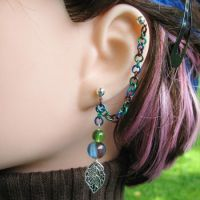 Guardian of the Trees Earring by merigreenleaf