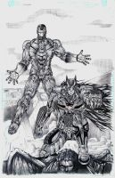 Batman and Ironman for coloring by jey2dworld