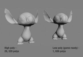 Disney Stitch WIP - With body and legs by 3DPad