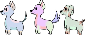 Colorful Dog adoptables [Open 5 points each] by Chris-Intensifies