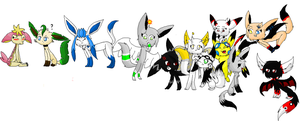 all my characters :3 by LunaticDemonLuny