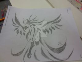 Tribal Pheonix Completed by DarkenedSoul12