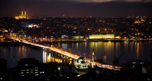 stanbul in the Night From Galata Tower by yavuzozer