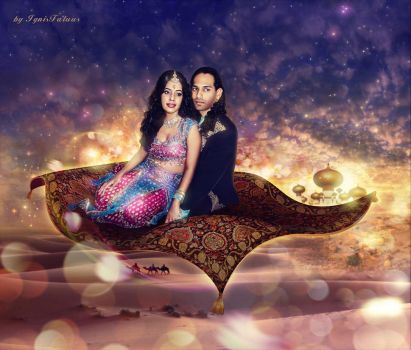 Jasmin and Aladdin by IgnisFatuusII