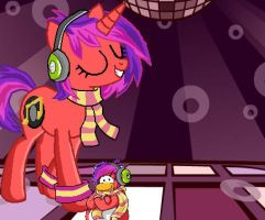 Club Penguin : DJ Cadence by doggie31