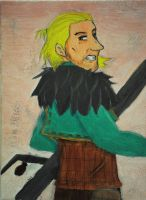 Anders drawn in Oil - Da2 by ImperialCharles