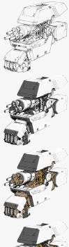 Robotic hand lineart drawing shadows #PART3 by nadrouch
