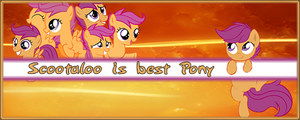 [Request] Scootaloo is best Pony - Signature by LimitBreaker13