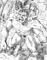 The Incredible Hulk pencils by Lannytorres