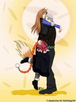 COM : Lawrence and Holo by whiteguardian