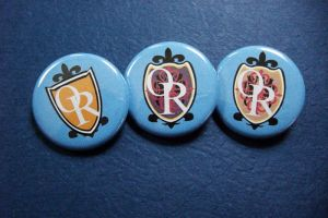 Ouran Host Club Buttons by vickinator
