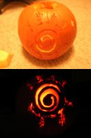 Kyuubi Seal - Pumpkin Carving by rielle