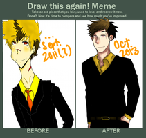 Draw This Again Meme: Xiao by PluePop
