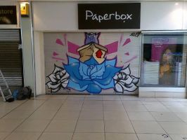 Shop Shutter Graffiti by SUREGRAFFITI