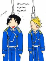 FMA keychains - Roy and Riza by EvanescentRose116