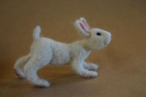 Needle Felted Rabbit by Artemisia52