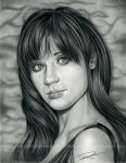 Zooey Deschanel by pat-mcmichael