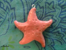 Sea Star or Starfish Pendant by ceciliaalovee