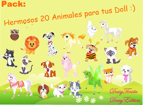 Pack de Hermosos animales para tus Doll by DaisyTinista
