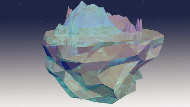 Isla de hielo Low Poly Cinema 4D by xKarinchi
