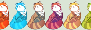 Red Panda Adoptables: CLOSED by Xeohelios