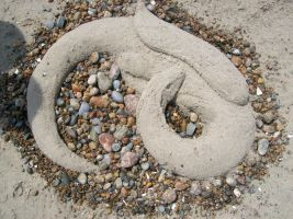 dragon sand sculpture by XennywithanX