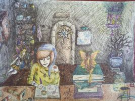 wizard's studio by Floating-BlowFish